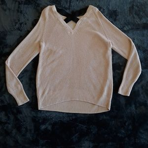 Halogen | NWOT Strappy Chunky Knit Blush Sweater
